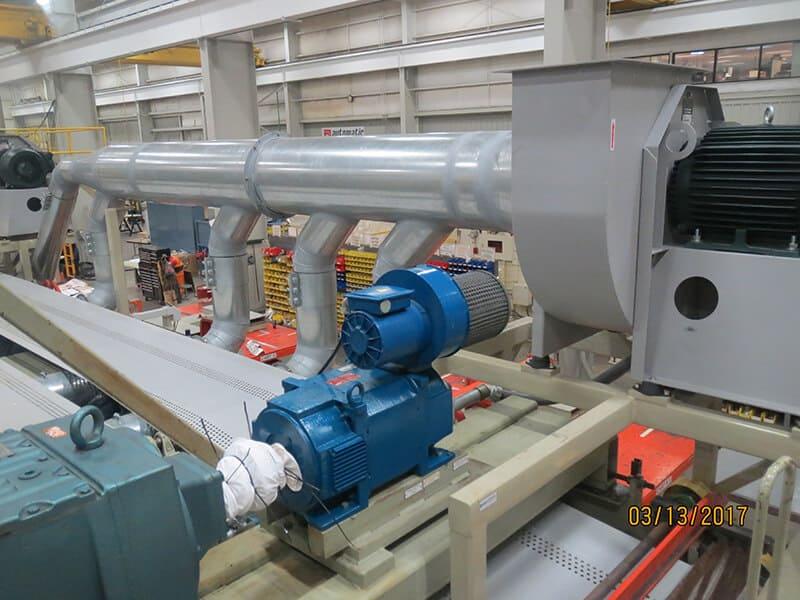 Vacuum retrofit in process, new motor installed