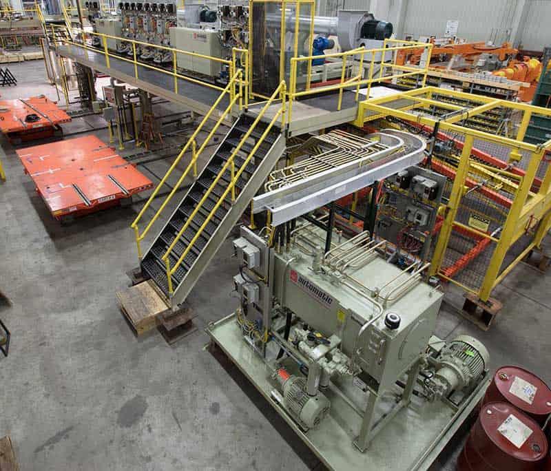 New stacker HPU unit installed on rebuilt line